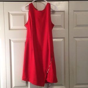 Banana Republic red zipper dress